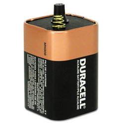 Duracell - MN908 - Lantern Battery, Voltage 6.0, Spring Terminal Type