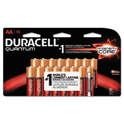Duracell - MX1500B16Z11 - Quantum Alkaline Batteries, AA, 16/PK