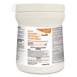 S.C. Johnson & Son - 100895790 - Avert Sporicidal Disinfectant Cleaner Wipes, Chlorine, 6 x 7, 160/Can, 12/Carton