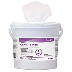 S.C. Johnson & Son - DRK 5388471 - Oxivir TB Disinfectant Wipes, 6 x 7, White, 60/Canister, 12 Canisters/Carton