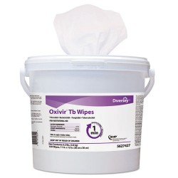 S.C. Johnson & Son - DVO 5627427 - Oxivir TB Disinfectant Wipes, 11 x 12, White, 160/Bucket, 4 Bucket/Carton