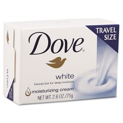S.C. Johnson & Son - DRK CB126811 - White Travel Size Bar Soap with Moisturizing Lotion, 2.6oz, 36/Carton