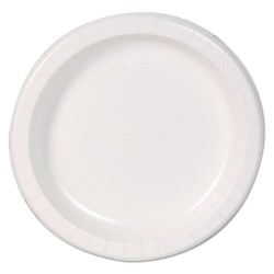 Dixie - DBP09W - 8-1/2 Round Disposable Plate, White; PK500