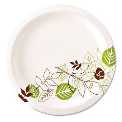 Dixie - SX11PLPATH - 8-5/8 x 11 Oval Disposable Platter, White/Brown/Green; PK500