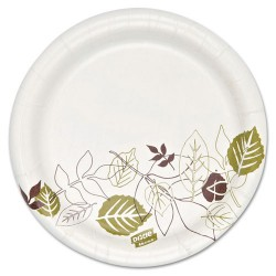 Dixie - SXP6PATH - 5-13/16 Round Disposable Plate, White/Brown/Green; PK1000