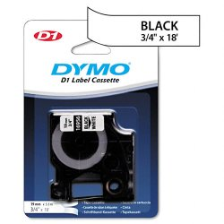 DYMO - 16956 - Dymo Permanent Tape Cartridges - 3/4 Width x 17 23/32 ft Length - Thermal Transfer - White - Polyester - 1 Each