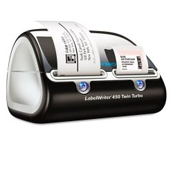 DYMO - 1752266 - LabelWriter Twin Turbo Printer, 71 Labels/Min, 5 1/2w x 8 2/5d x 7 2/5h