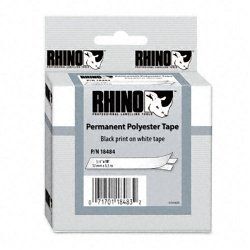 "DYMO - 18484 - Dymo RhinoPRO Permanent Polyester Tape - 0.75"" Width x 18.04 ft Length - Thermal Transfer - White - Polyester - 1 Each"