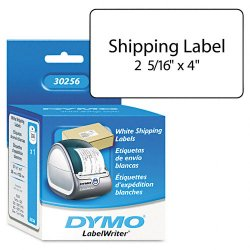 "DYMO - 30256 - Dymo Shipping Label - 2.31"" Width x 4"" Length - 300 / Roll - Rectangle - Direct Thermal - White - 300 / Roll"