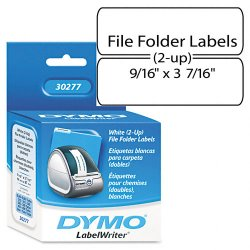 "DYMO - 30277 - Dymo Filing Labels - 0.56"" Width x 3.43"" Length - 260 / Roll - Direct Thermal - White"