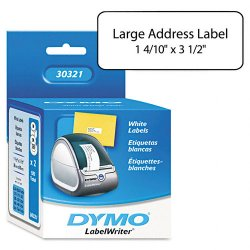 DYMO - 30321 - Dymo Large Address Labels - 3 1/2 Width x 1 1/2 Length - Rectangle - Inkjet - White - 520 / Roll