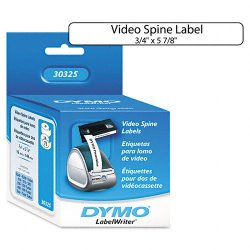 "DYMO - 30325 - Dymo LabelWriter Video Spine Labels - 0.75"" Width x 5.87"" Length - 150 / Roll - Direct Thermal - White - 150 / Box"