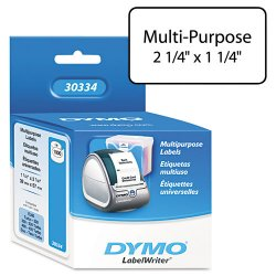 "DYMO - 30334 - Dymo LabelWriter Multipurpose Label - 2.25"" Width x 1.25"" Length - 1000 / Roll - Rectangle - White - 1000 / Roll"