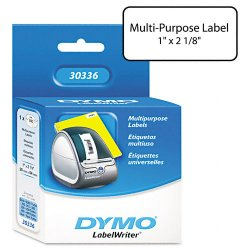 "DYMO - 30336 - Dymo CoStar Printer White Label - 1"" Width x 2.12"" Length - 500 / Roll - Direct Thermal - White - 500 / Roll"
