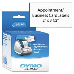 DYMO - 30374 - Dymo Business Card - A8 - 2 x 3 1/2 - 300 / Roll - White