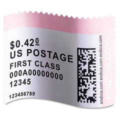"DYMO - 30915 - Dymo Internet Postage Labels Roll - 1.62"" Width x 1.25"" Length - 200 / Roll - Rectangle - White - 200 / Roll"