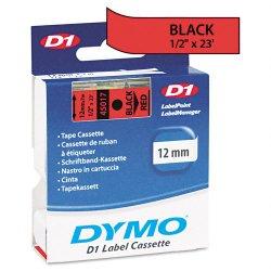 "DYMO - 45017 - Dymo D1 45017 Tape - 0.50"" Width x 23 ft Length - Thermal Transfer - Red - Polyester - 1 Each"