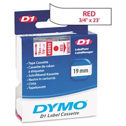 "DYMO - 45805 - Dymo D1 Electronic Tape Cartridge - 0.75"" Width x 23 ft Length - Thermal Transfer - White - Polyester - 1 Each"