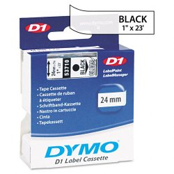 "DYMO - 53710 - Dymo D1 Electronic Tape Cartridge - 1"" Width x 23 ft Length - Clear - 1 Each"