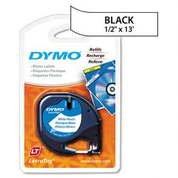 "DYMO - 91331 - Dymo LetraTag 91331 Polyester Tape - 0.50"" Width x 13 ft Length - Direct Thermal - White - Polyester - 1 Each"