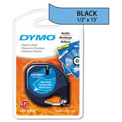 "DYMO - 91335 - Dymo 91335 LetraTag Tape Cassette - 0.50"" Width x 13 ft Length - Rectangle - Direct Thermal - Blue - Polyester - 1 / Each"