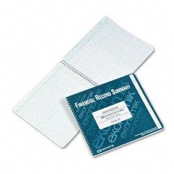 Ekonomik - DD - Wirebound Check Register Accounting System, 8 3/4 x 10, 40 Pages