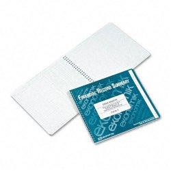 Ekonomik - R - Wirebound Check Register Accounting System, 8 3/4 x 10, 40-Page Book