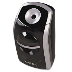 Elmer's - 1770 - SharpX Portable Pencil Sharpener, Battery Operated, Black/Silver