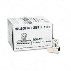 Elmer's - 2001 - Elmer's Grip Bulldog Clips - 1.3 Width - 0.38 Size Capacity - 36 / Box - Silver - Steel