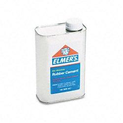 Elmer's - 233 - Elmer's No-Wrinkle Acid-Free Rubber Cement - 2 lb - 1 Each - Silver