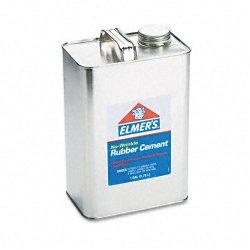 Elmer's - 234 - Elmer's No-Wrinkle Acid-Free Rubber Cement - 1 gal - 1 Each - Silver