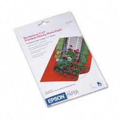"Epson - S041464 - Epson Photo Paper - 5"" x 7"" - 68 lb Basis Weight - High Gloss - 92 Brightness - 20 Sheet - White"