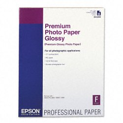 "Epson - S042092 - Epson Premium Photo Paper - C - 17"" x 22"" - Glossy - 25 Sheet"