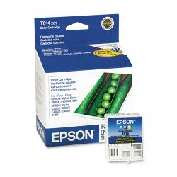 Epson - T014201 - Epson Tri-color Ink Cartridge - Cyan, Magenta, Yellow - Inkjet - 150 Page - 1 Pack