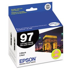 Epson - T097120-D2 - Epson No. 97 Extra-High Capacity Black Ink Cartridge - Inkjet - 2 / Pack