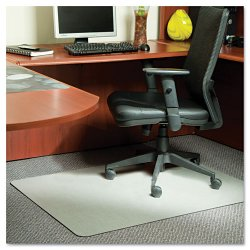 E.S. Robbins - 119338 - Stainless 60x46 Rectangle Chair Mat, Design Series for Carpet up to 3/4