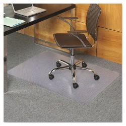 E.S. Robbins - 121821 - EverLife Chair Mats For Medium Pile Carpet, Rectangular, 36 x 48, Clear