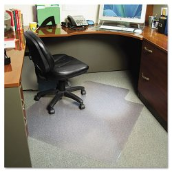 E.S. Robbins - 122173 - EverLife Chair Mats For Medium Pile Carpet With Lip, 45 x 53, Clear