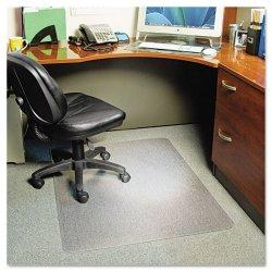 E.S. Robbins - 122371 - EverLife Chair Mats For Medium Pile Carpet, Rectangular, 46 x 60, Clear
