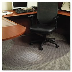 E.S. Robbins - 122775 - EverLife Chair Mats For Medium Pile Carpet, Contour, 66 x 60, Clear