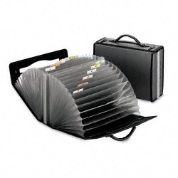Esselte Pendaflex - 01132 - Esselte EarthWise Professional Expanding Carrying Case - 26 Pocket(s) - Poly - Smoke Gray - Recycled