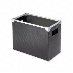 Esselte Pendaflex - 01151 - Poly Desktop Storage Box, Letter Size, Black
