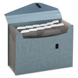 Esselte Pendaflex - 01163 - Esselte Pendaflex 13-Pocket Poly Expanding File - 9 1/16 x 13 1/2 Sheet Size - 13 Pocket(s) - Blue - 1 Each