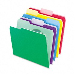 Esselte Pendaflex - 02086 - File Folders with InfoPocket, 1/3 Cut Top Tab, Letter, Assorted, 30/Pack