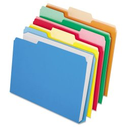 Esselte Pendaflex - ESS48437 - CutLess/WaterShed/Double Stuff File Folders, 1/3 Cut, Assorted, Letter, 50/BX