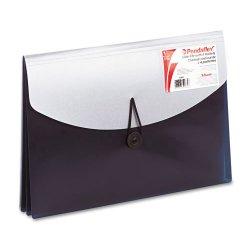 Esselte Pendaflex - 50965 - Esselte Pendaflex Slide File - Letter - 8 1/2 x 11 Sheet Size - 4 Pocket(s) - Blue, Silver - 5.44 oz - 1 Each