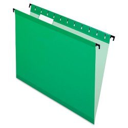 Esselte Pendaflex - ESS6152 1/5 BGR - Poly Laminate Hanging Folders, Letter, 1/5 Tab, Bright Green, 20/Box