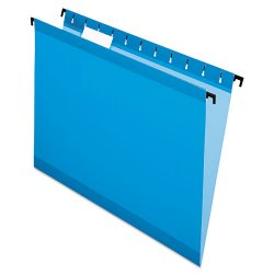 Esselte Pendaflex - ESS6152 1/5 BLU - Poly Laminate Hanging Folders, Letter, 1/5 Tab, Blue, 20/Box