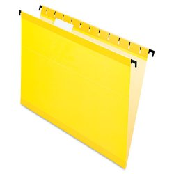 Esselte Pendaflex - ESS6152 1/5 YEL - Poly Laminate Hanging Folders, Letter, 1/5 Tab, Yellow, 20/Box