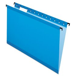 Esselte Pendaflex - ESS6153 1/5 BLU - Poly Laminate Hanging Folders, Legal, 1/5 Tab, Blue, 20/Box